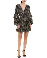 MISA Los Angles Isabel Wrap Dress - Black