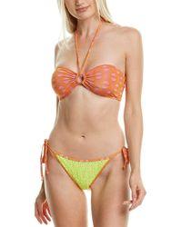 Adriana Degreas 2pc Sequin Bikini Set - Orange