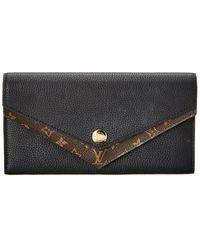 Louis Vuitton Black Monogram Canvas Double V Wallet