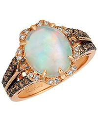 Le Vian 14k Rose Gold 2.82 Ct. Tw. Diamond & Opal Ring - Metallic