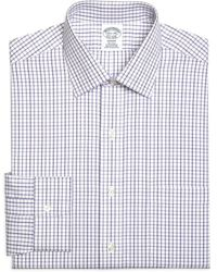 Brooks Brothers Regent Fitted Dress Shirt - Purple