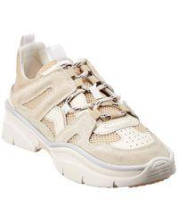 Isabel Marant Kindsay Leather & Suede Trainer - White
