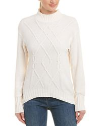 Three Dots - Chenille Cable-knit Sweater - Lyst