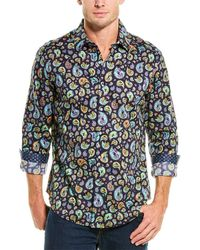 Robert Graham Animal House Classic Fit Woven Shirt - Blue