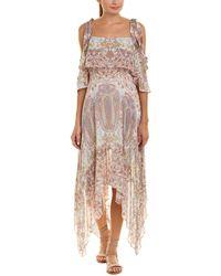 BCBGMAXAZRIA Claire Midi Dress - White
