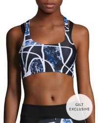 Body Language Sportswear - Twist Printed Top - Lyst