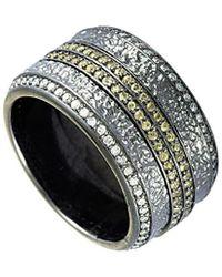 Stephen Webster Silver & Rhodium 1.35 Ct. Tw. Diamond & Sapphire Ring