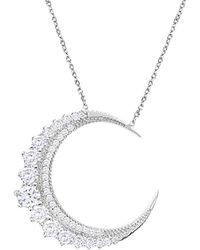 Gabi Rielle Silver Cz Necklace - Metallic