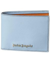 Palm Angels Colorblocked Leather Bifold Wallet - Blue