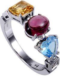 BVLGARI 18k Diamond & Gemstone Ring