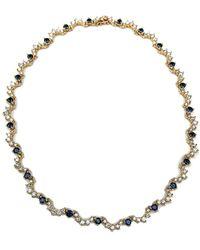 Arthur Marder Fine Jewelry 14k 10.50 Ct. Tw. Diamond & Sapphire Necklace - Metallic