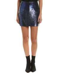 IRO Noblea Leather Skirt - Blue