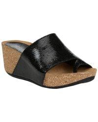 Donald J Pliner Ginie2 Metallic Wedge Sandal - Black