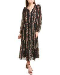 Julia Jordan Chiffon Midi Dress - Black