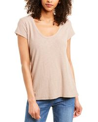 James Perse Scoop Neck Shirt - Natural