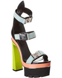 Versace Leather Platform Sandal - Multicolour