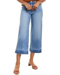 FRAME Denim Ali Imogen Dip Wide Leg Crop Jean - Blue