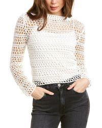 Theory Crochet Top - White