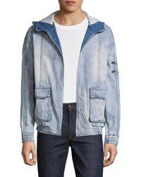 Zanerobe Box Hooded Denim Jacket - Blue