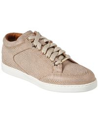 Jimmy Choo Miami Leather Low-top Trainer - Metallic