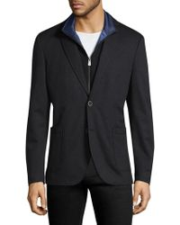 Hart Schaffner Marx - Broderick Technical Outerwear Jacket With Detachable Knit Bib - Lyst