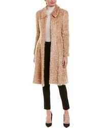 Chanel Fuzzy Silk-lined Wool-blend Coat - Brown