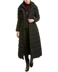Cole Haan Quilted Long Coat - Black