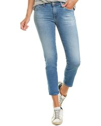 AG Jeans The Prima 18 Years Vacancy Cigarette Crop - Blue