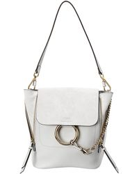 Chloé Faye Small Leather & Suede Backpack - Multicolour