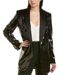 Michael Kors Silk-blend Blazer - Black