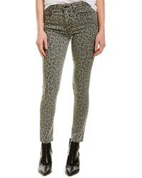Joe's Jeans Grey Leopard High-rise Ankle Skinny Leg - Gray