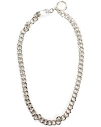 Chanel Silver-tone Curb Chain Link Necklace Belt - Metallic