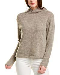 Vince Textured Wool-blend Hoodie - Grey