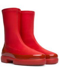 Camper Fiss Mid Boot - Red