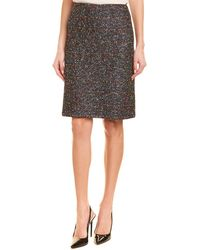 St. John Wool-blend Pencil Skirt - Gray