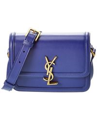 Saint Laurent Solferino Box Small Leather Satchel - Purple