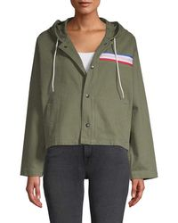 Être Cécile Cropped Oversized Jacket - Green