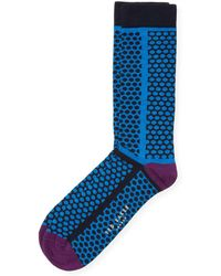 Ted Baker - Organic Mixed Scale Spot Sock - Lyst