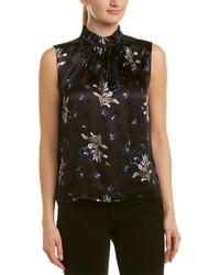 Rebecca Taylor - Violet Floral Silk-blend Top - Lyst