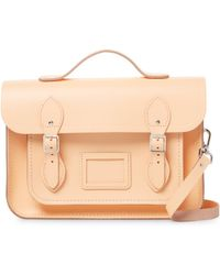 Cambridge Satchel Company - Solid Leather Batchel Bag - Lyst