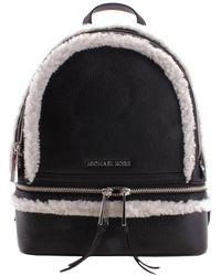 Michael Kors Rhea Zip Medium Backpack - Black