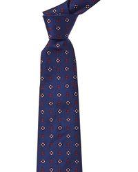 Brooks Brothers Navy Anchor & Lifesavers Silk Tie - Blue