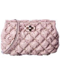 Valentino Garavani - Rockstud Quilted Leather Shoulder Bag - Lyst