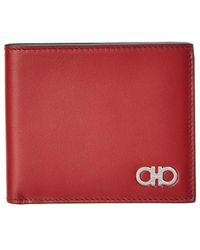 Ferragamo International Leather Bifold Wallet - Red