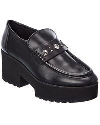 Maje Flatz Leather Loafer - Black