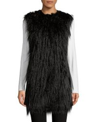 Theory Nyma Faux Fur Vest - Black