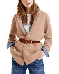 J.Crew Wool-blend Blazer - Natural