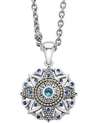 Lagos Wanderlust 18k & Silver Swiss Blue Topaz Necklace - Multicolor