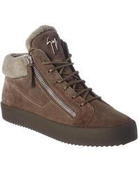 Giuseppe Zanotti Suede Sneaker - Gray