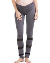Electric Yoga Maternity Mesh Panel Legging - Gray